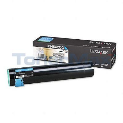 LEXMARK X940E TONER CARTRIDGE CYAN 22K